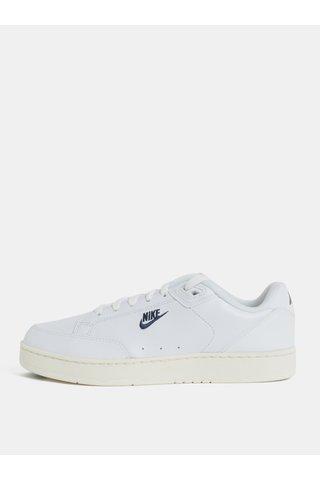 Tenisi barbatesti albi din piele naturala Nike Grandstand II