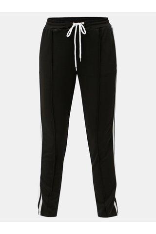 Pantaloni negri cu inalta talie si dungi MISSGUIDED