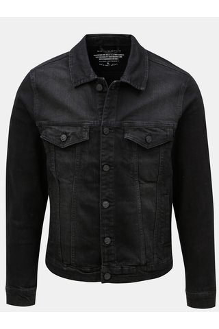 Jacheta neagra din denim ONLY & SONS Coin