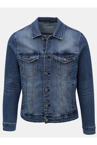 Jacheta albastra din denim cu aspect prespalat ONLY & SONS Coin