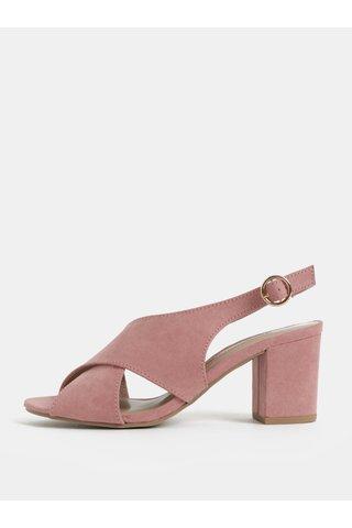 Sandale roz cu toc Dorothy Perkins