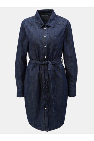 Rochie tunica albastra cu cordon in talie Jacqueline de Yong Esra
