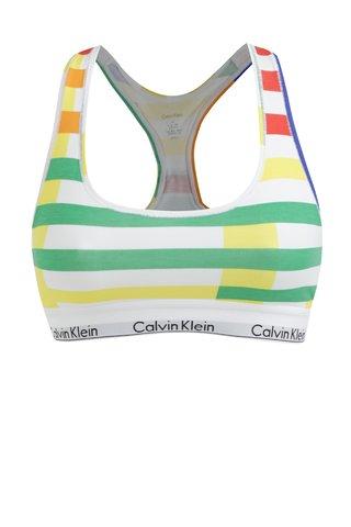 Bustier verde-alb in dungi Calvin Klein