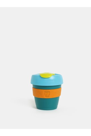 Cana de calatorie verde-oranj KeepCup Original Extra Small