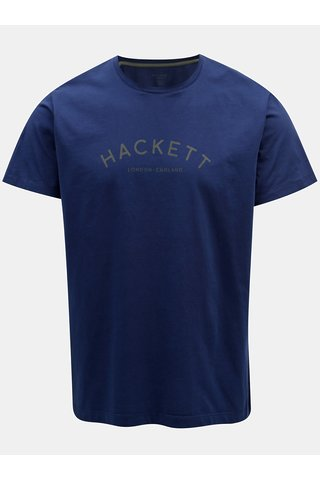 Tricou albastru classic fit Hackett London