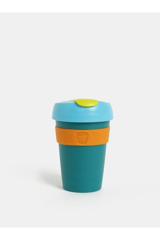 Cana de calatorie verde-oranj KeepCup Original Six