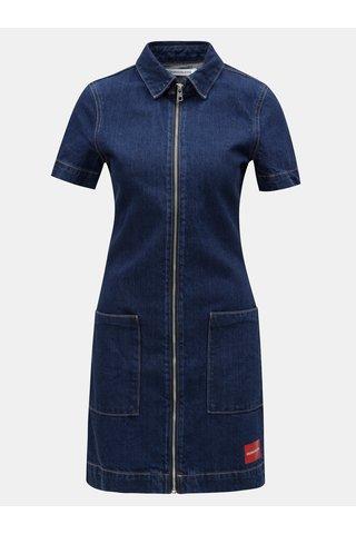 Modré džínové šaty Calvin Klein Jeans