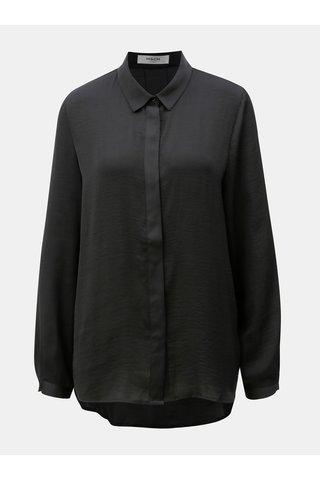 Bluza lejera neagra cu nasturi ascunsi Moss Copenhagen Blair