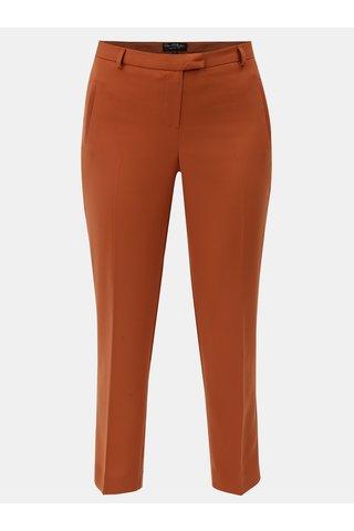 Pantaloni oranj crop plisati Miss Selfridge