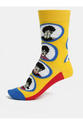Sosete unisex rosu-galben Happy Socks Beatles Submarine Sock