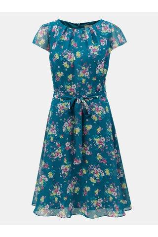 Rochie verde inchis cu model floral si cordon in talie Billie & Blossom Tall