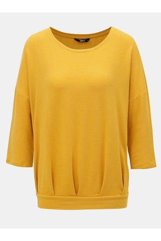 Hořčicové volné tričko ONLY Mida