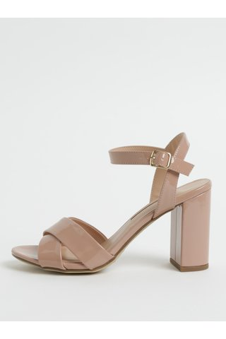 Sandale roz inchis cu toc inalt Dorothy Perkins