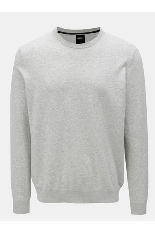Šedý žíhaný svetr Burton Menswear London