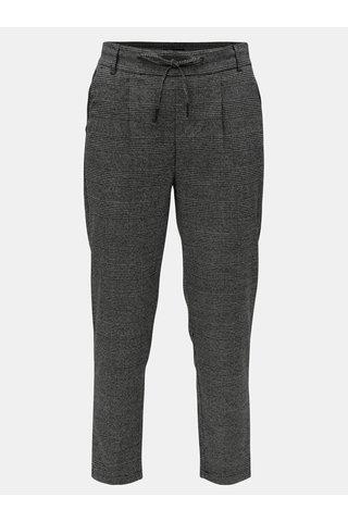 Pantaloni gri-negru cu model si talie elastica ONLY Poptrash