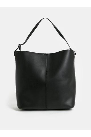 Geanta shopper neagra cu portofel detasabil Pieces Fareena