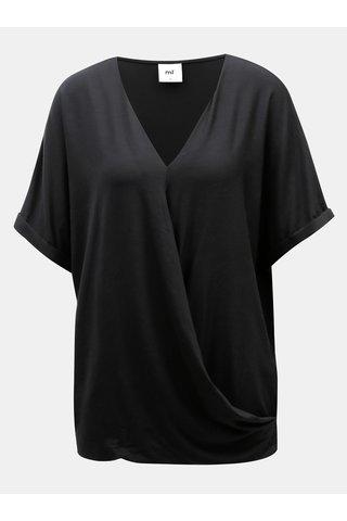 Bluza neagra cu croi suprapus in fata pentru femei insarcinate si pentru alaptat Mama.licious