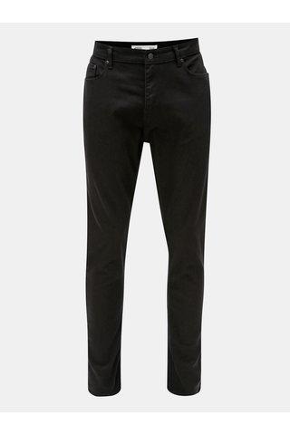 Blugi negri tapered fit din denim Burton Menswear London