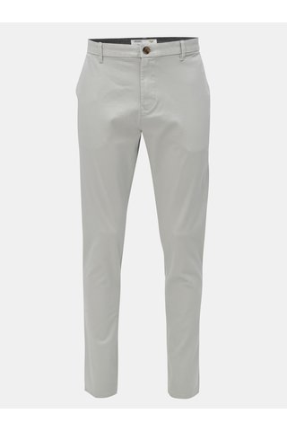 Pantaloni tapered fit gri deschis Burton Menswear London