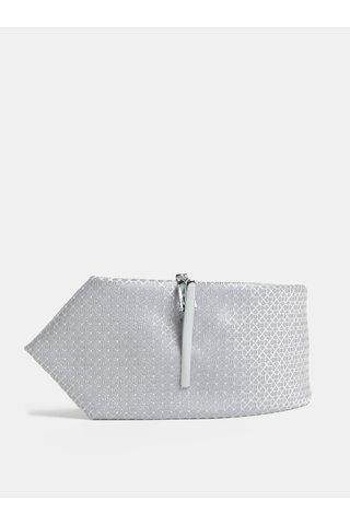 Cravata gri cu model si catarama Menswear London