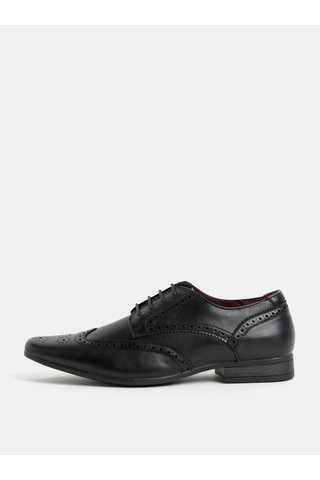 Pantofi brogue negri Burton Menswear London