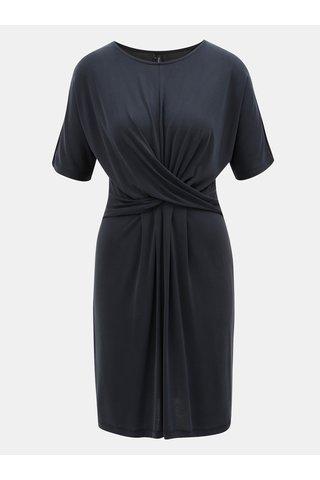 Rochie albastru inchis cu barete suprapus in fata VERO MODA