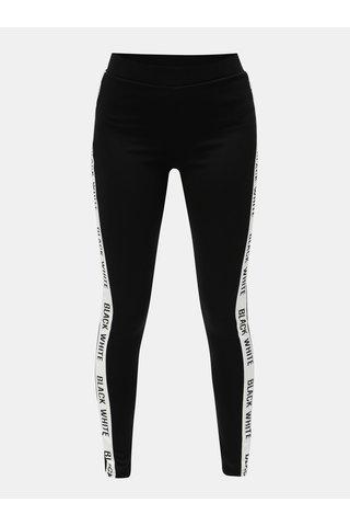 Pantaloni sport negri cu dunga alba Jacqueline de Yong