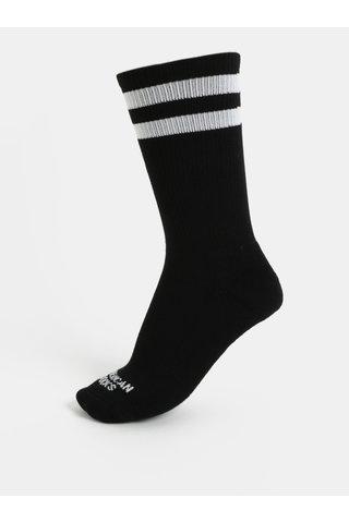 Sosete unisex negre cu dungi American socks II.