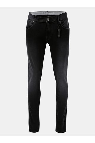 Blugi negri slim fit din denim Dstrezzed