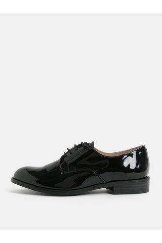 Pantofi negri luciosi din piele OJJU
