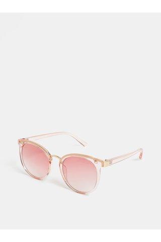 Ochelari de soare de dama transparenti roz Jeepers Peepers