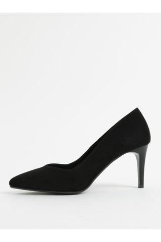 Pantofi negri din piele intoarsa cu toc cui OJJU