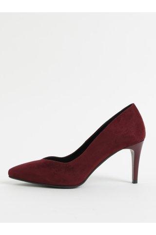 Pantofi visinii din piele intoarsa cu toc cui OJJU