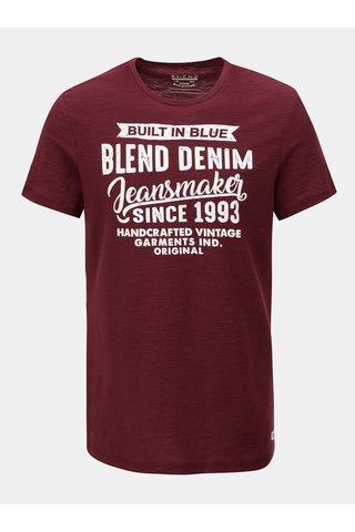 Červené regular žíhané tričko Blend
