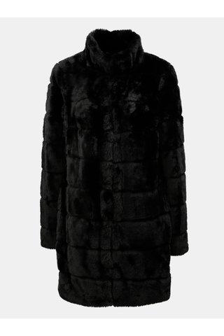 Pardesiu negru din blana artificiala Dorothy Perkins