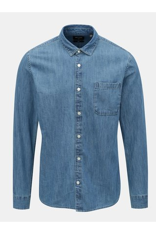 Camasa albastra slim din denim ONLY & SONS Kade