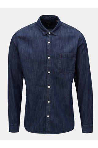Camasa albastru inchis slim din denim ONLY & SONS Kade