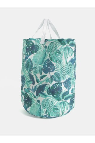 Cos de depozitare alb-verde cu print tropical Sass & Belle Botanical Jungle