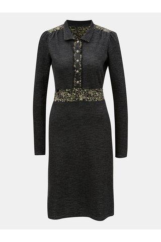 Černé žíhané mikinové šaty s dlouhým rukávem Blutsgeschwister