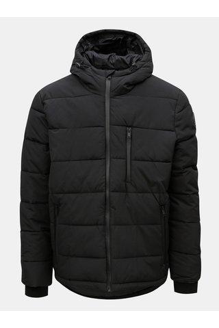 Jacheta neagra matlasata cu gluga de iarna Burton Menswear London