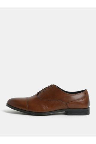 Pantofi maro din piele Menswear London
