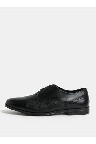 Pantofi negri din piele Burton Menswear London