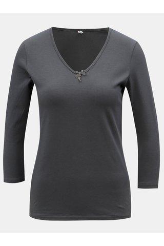 Tmavě šedé tričko s 3/4 rukávem Blutsgeschwister