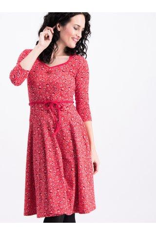 Červené šaty s potiskem a 3/4 rukávem Blutsgeschwister