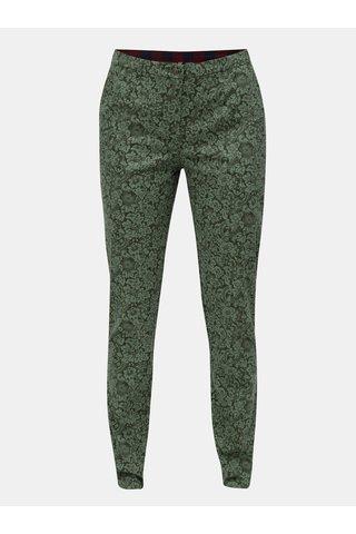 Pantaloni verzi cu model floral Blutsgeschwister