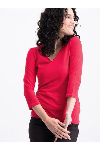 Červené tričko s 3/4 rukávem Blutsgeschwister