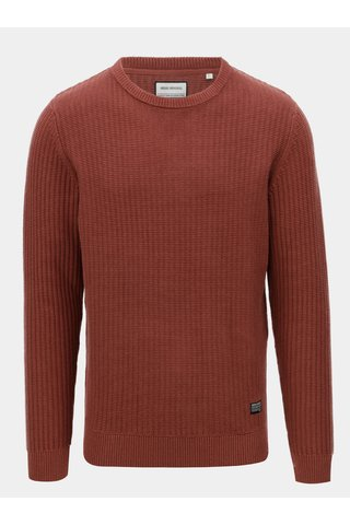 Hnědý bavlněný svetr Shine Original