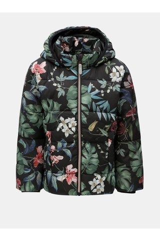 Černá holčičí zimní prošívaná bunda s kapucí Name it May
