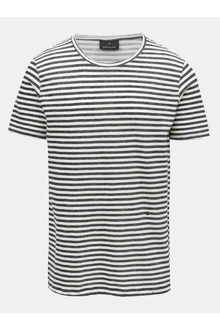 Krémovo-modré pruhované tričkoJUNK de LUXE