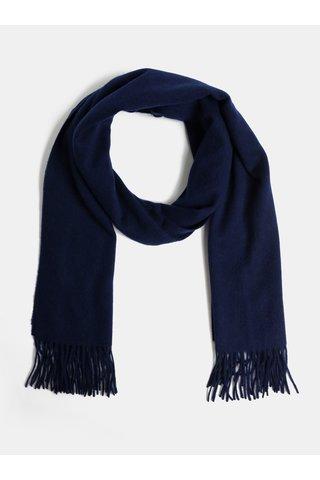 Esarfa albastru inchis din lana Selected Femme